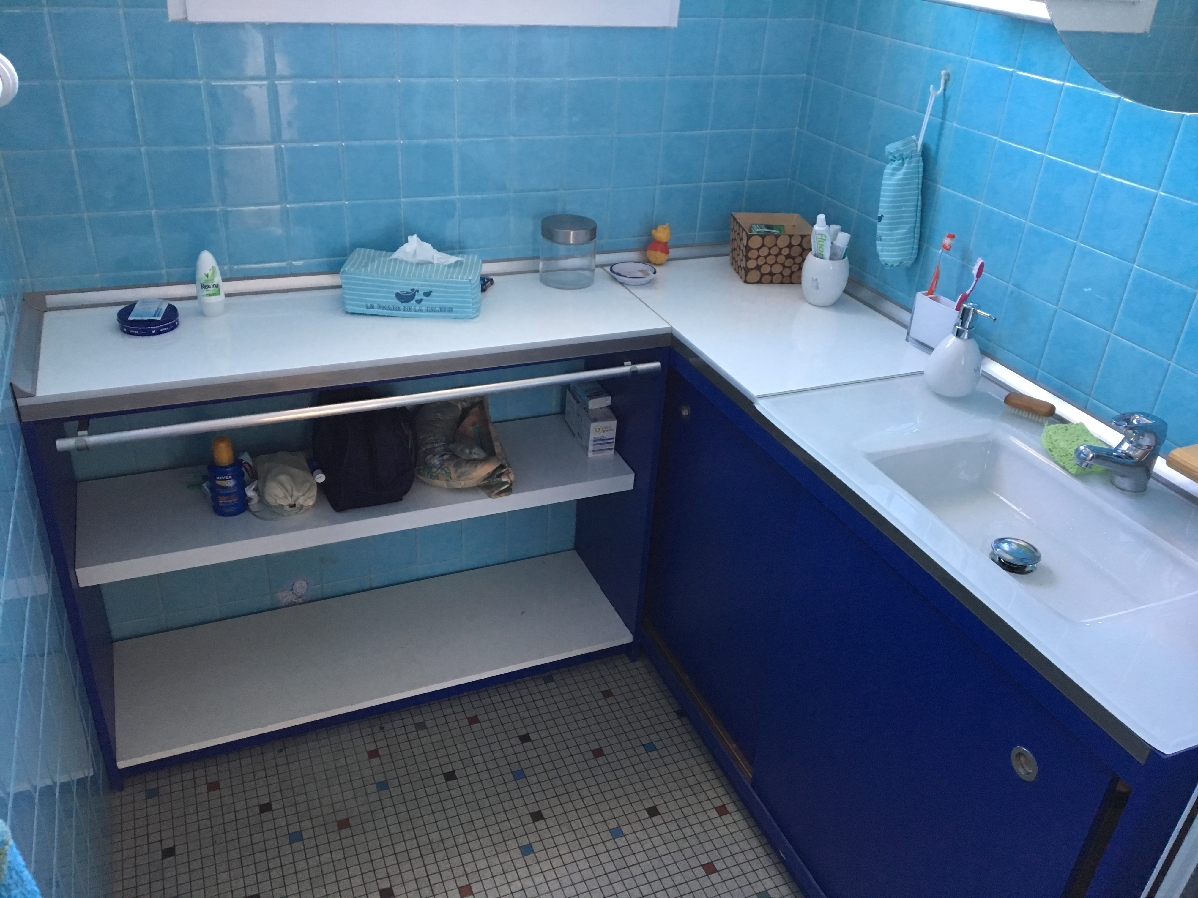 Meuble salle de bain porte lavabo